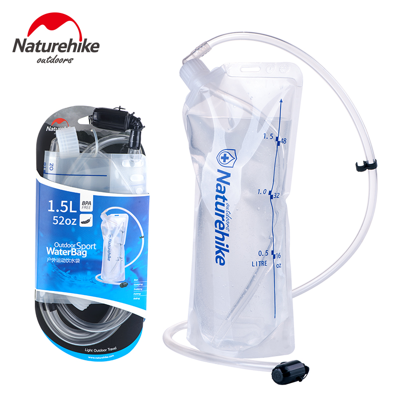 NatureHike Outdoor Sports Water Bag Camping Hiking Transparent Drink Bag NH Cycling Water bags 2L bicycle bag