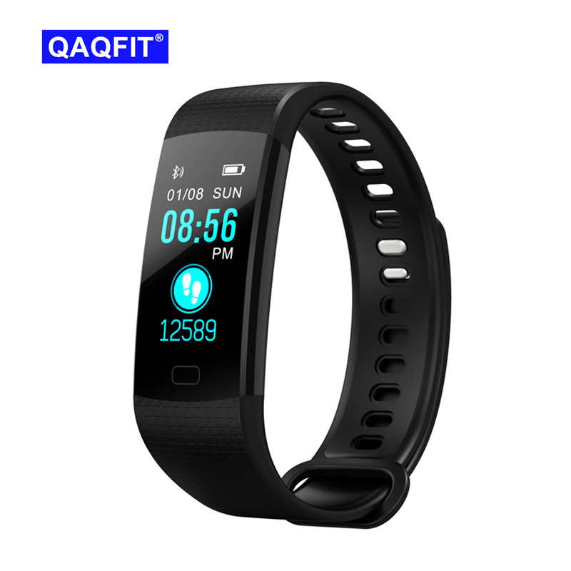 QAQFIT Pulsometer Fitness Smart Bracelet Y5 Smart Band Activity Tracker Pedometer Smart Watch Vibrating Alarm Clock For iPhone