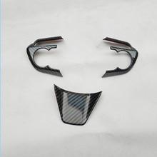 for toyota rav4 rav 4 xa50 50 2019 2020 Steering wheel trim interior frame decoration car accessories plastic carbon fiber цены