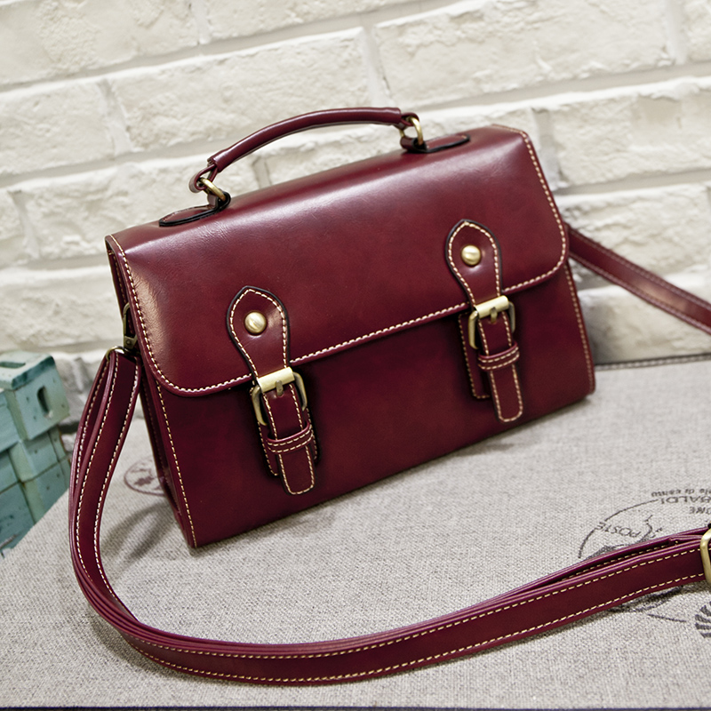 New Fashion Retro font b Bag b font High Quality Designer Leather Handbag Messenger font b