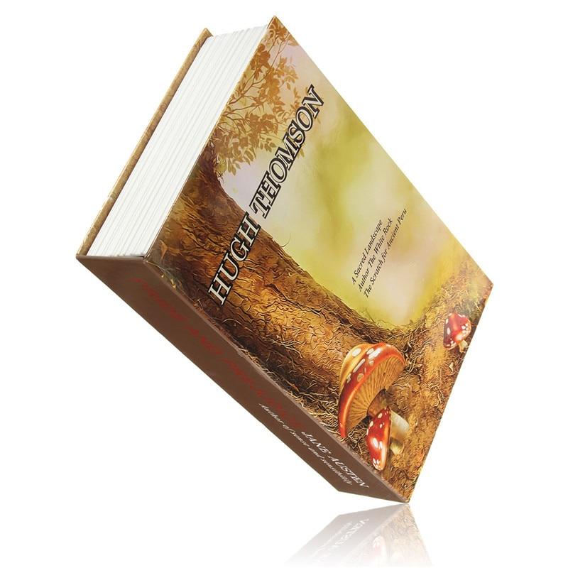 Key Lock Book Safes Hidden Safe Box Travel Home Money Jewelry Security Steel Simulation Book 24.2*15*5.5cm
