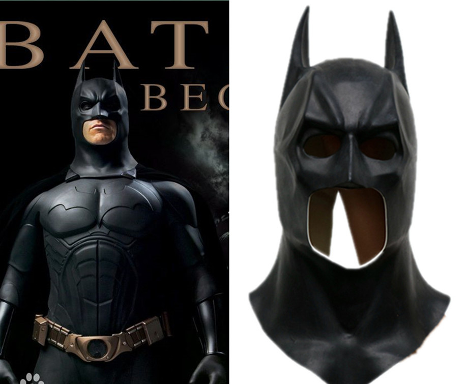 Hot Movie Batman Masks Adult Halloween Mask Full Face Latex Caretas  Bruce Wayne Toy Props Cosplay costume