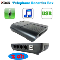 DHL Free Shipping 2 Channels USB Telephone Recording Box telephone call voice logger record business information for you
