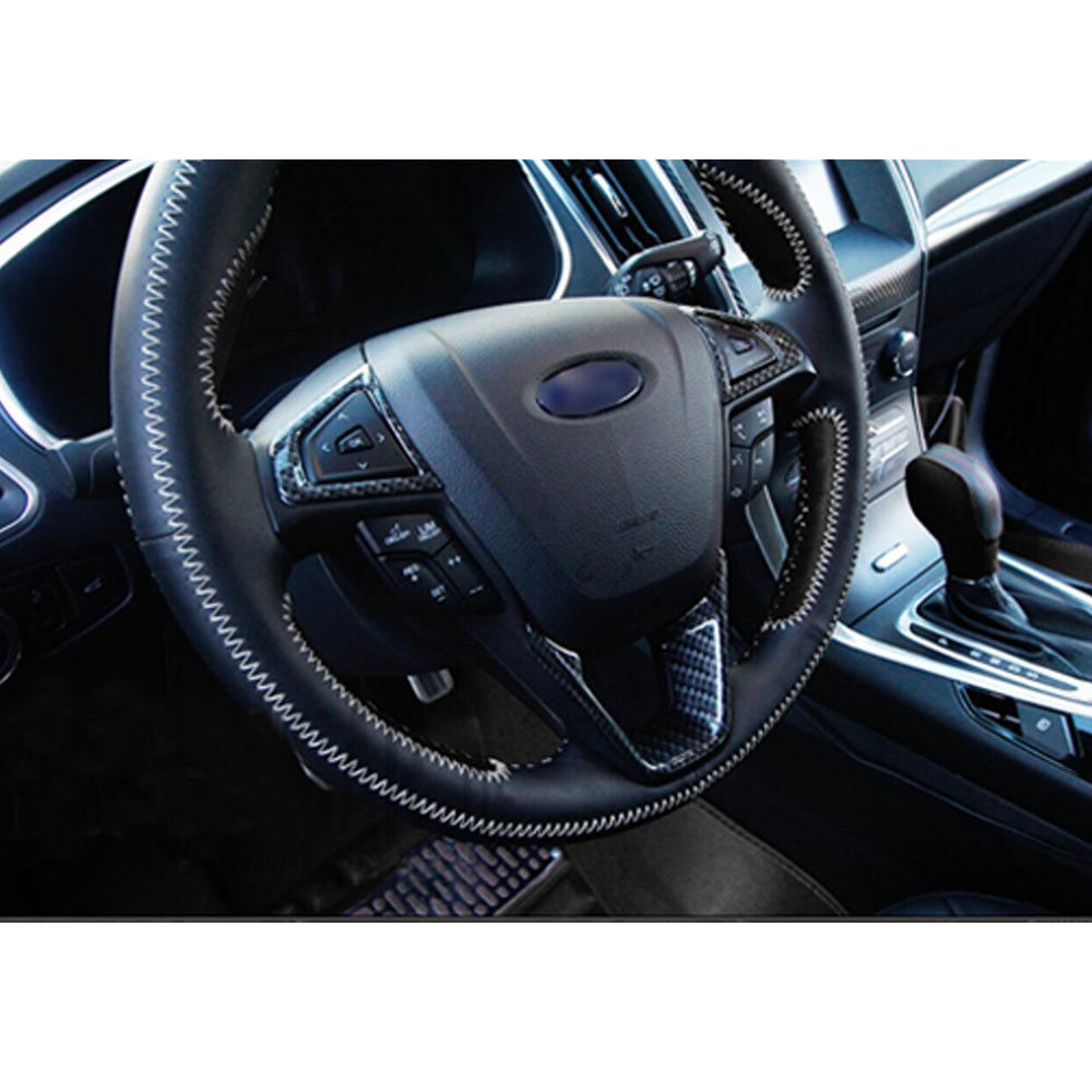 3x Fit For Ford 2015 Edge Fusion Mondeo Steering Wheel Interior Moulding  Cover Trim Decor Sticker Part Carbon Fiber Car Styling In Interior  Mouldings From ...
