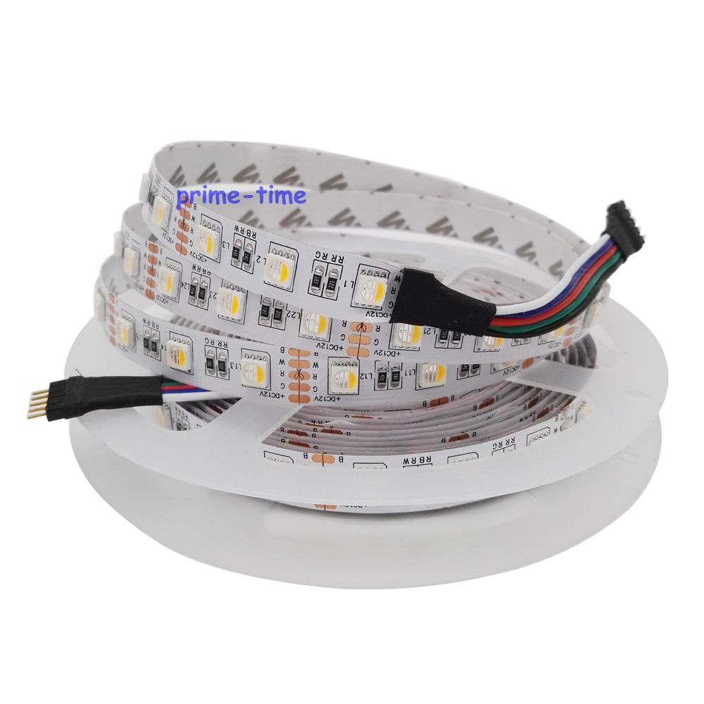 RGBW LED Strip, 4 color in 1 led chip,SMD 5050 12V/24V flexible light RGB+White / warm white ,60Leds/m,5m/lot светодиодная лента world uniqueen 10pcs lot dhl ems 24v 14 4w 60leds smd 5050 wu 24v 5050 60 wnw