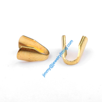 2013 jewelry findings Base metal foldover crimps Chain end caps for welding die struck shipping free