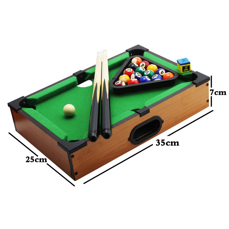 Newly Mini Tabletop Pool Table Billiards Set Training Gift for Children Fun Entertainment BFE88