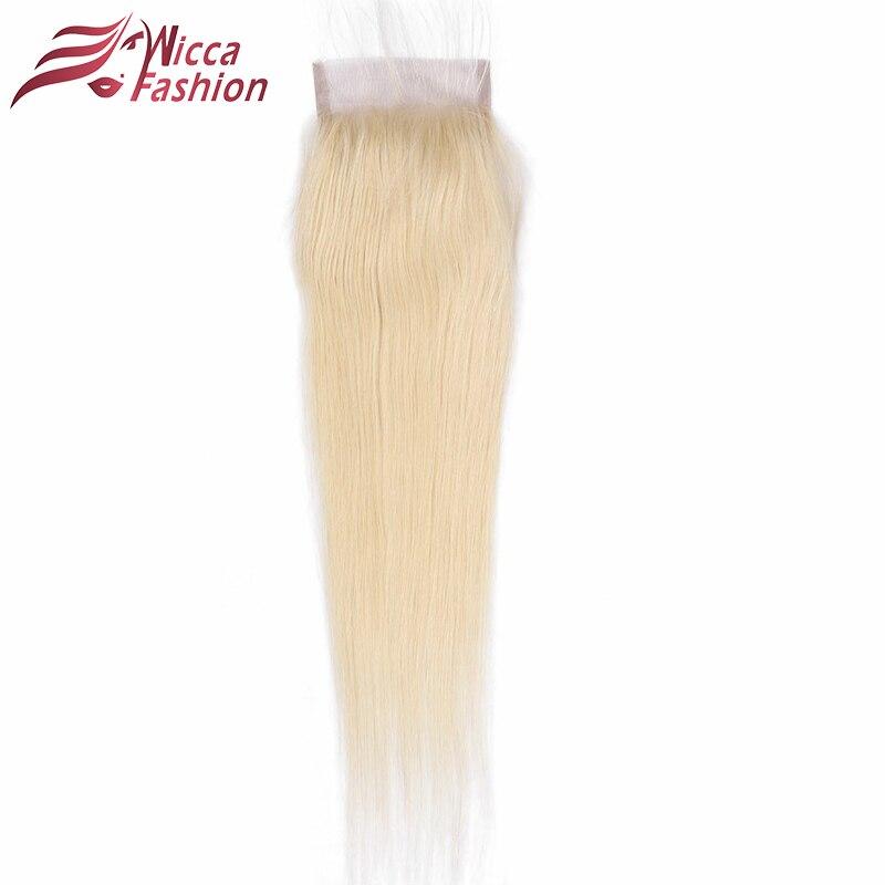 Dream Beauty Brazilian 613 Full Blonde Lace Closure Straight Remy Human Hair 4 4 Closure Free