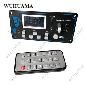 Image 5 - 12V DIY Car Radio Bluetooth Audio Stereo Player LED Lyric Display Phone AUX IN MP3 FM/USB/Radio Remote Control Card Reader Modul