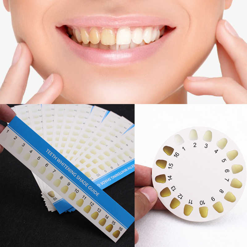 Detail Feedback Questions About 30pcs 16 Colors Teeth Whitening Shade Guide Paper Chart Card For Tooth Whiter Effective Compare Professional Dental Supplies