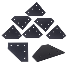 3D Printer 90 Degree 120 x 120 x 6MM L type with 5 Hole Joining Plates for CNC 4040 V-slot Aluminum profiles Set of 8