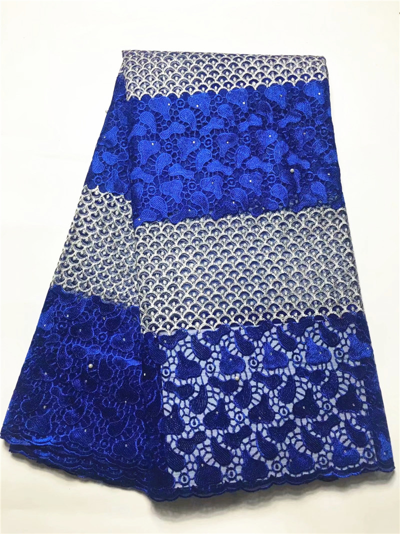 Fashion african lace fabric beaded latest african laces 2018 french cotton fabric mesh tulle nigerian embroidery