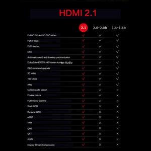 Image 4 - MOSHOU Real HDMI 2.1 Kabel Ultra HD (UHD) 8 K HDMI 2.1 Kabel 48Gbs met Audio & Ethernet HDMI Cord 1 M 2 M 5 M 10 M 15 M 20 M HDR 4:4:4