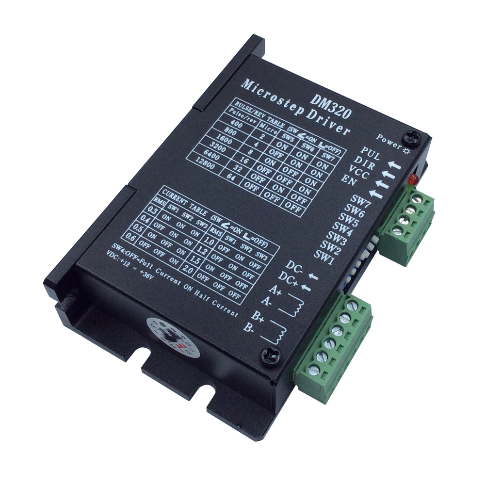 DM320 Stepper Motor Driver Controller Microstep Motor Input DC12~36V AC12~24V for 28 35 42 Stepper Motor new cnc controller dc 20 50v stepper motor driver brushless dc motor driver for 400w machine tool spindle