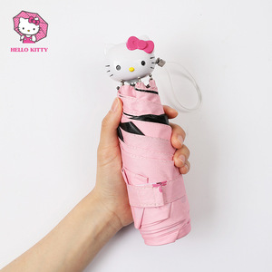 Image 4 - Hello Kitty Cartoon Lovely Girl Womens Umbrella Pocket Mini  Fold Too Parasol Portable Five Folding Regenschirm Sunshade