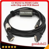 Diagnostics Multiplexer Cable for MB Star C3 Diagnosis Multiplexer Cable Diagnostic Tool with RS232 to RS485 Cable