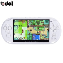 8G X9 Rechargeable 5.0 inch 8G Handheld Retro Game Console Video MP3 Player Camera Handheld Game Players