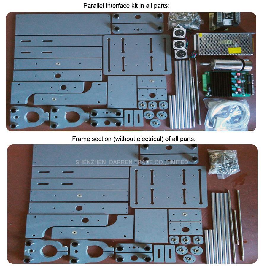 1tk DIY CNC puulõige mini graveerimismasin PVC veskigravüüri tugi - Puidutöötlemisseadmed - Foto 3