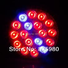 E27 54 w ac85-265v 14red: 4 blue led crece luces de alta potencia para la floración de plantas y hidroponía planta crece lámpara