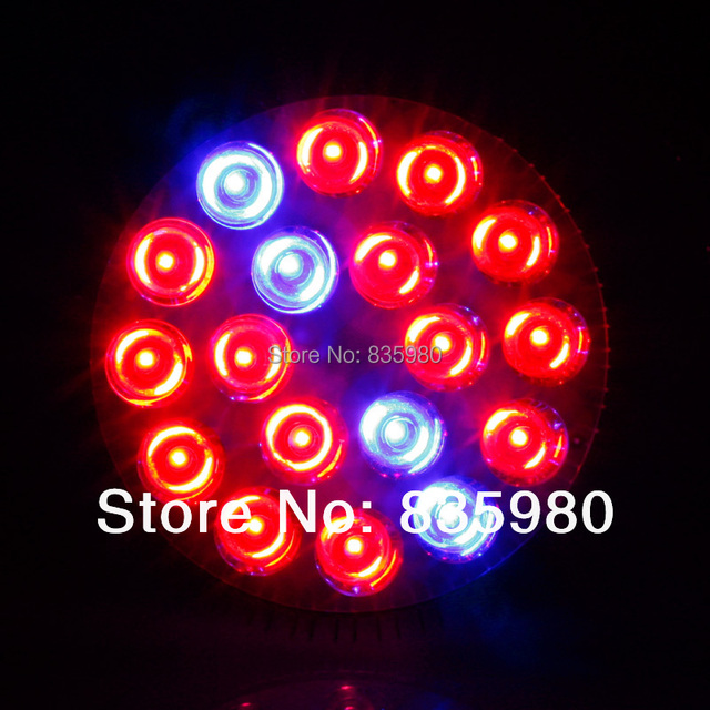 E27 54W AC85-265V 14Red:4Blue Led Grow Lights High Power for Flowering Plant and Hydroponics Plant Grow Lamp