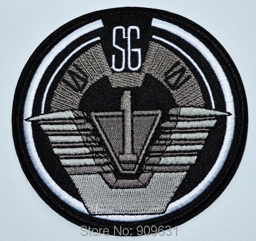 US $16 7 |Stargate SG 1 TV Series Patch Project Earth Uniform Command Logo  STAR GATE Iron On Patch-in Patches from Home & Garden on Aliexpress com |