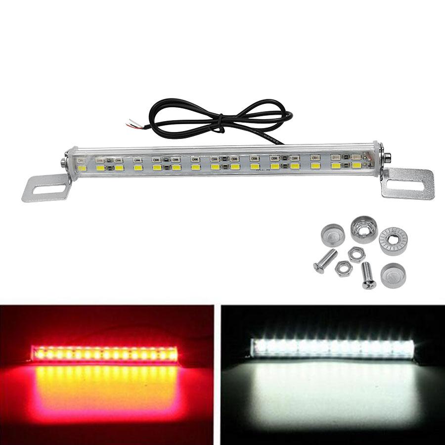New Arriva 1PCS Universal Car 12V 30 LED Stop Brake License Plate Light Lamp Backup Red & White smaart v 7 new license