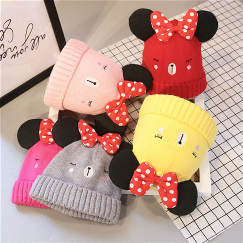 Cute Cap Baby Hat For Girls & Boys Knit Baby Hats Beanie Candy Color Toddler Children Hat