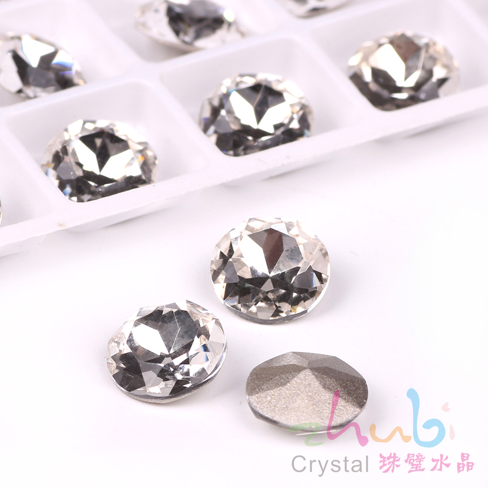 Claw Rhinestones Flatback Glass Stones 10 12mm Clear Crystal Loose Czech Beads  Faceted DIY Crystals Beading For Wedding Dresses-in Beads from Jewelry ... dcb21f4d102a