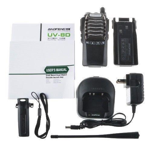 2pcs BaoFeng UV-8D walkie talkie 8V8D Portable PTT radio UV8D CB radio Transceiver Standared Battery 2800mAh two way radio