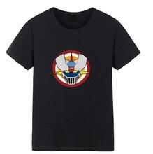Black Mazinger Z T Shirt black o neck tee summer man cotton short sleeve tee shirts free shipping