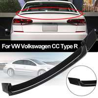 NEW R Style Gloss Black ABS Plastic Material Car Rear Roof Spoiler Lip Wings for VW for Volkswagen CC Type R 2008 2018
