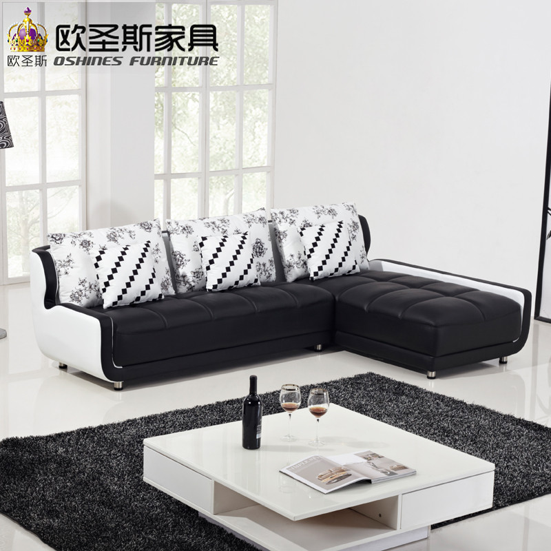 French Style New Sofa Design Black And White Small Size L Shaped Mini House Types Of Living Hall Chinese Leather Sets K001 In Room Sofas From