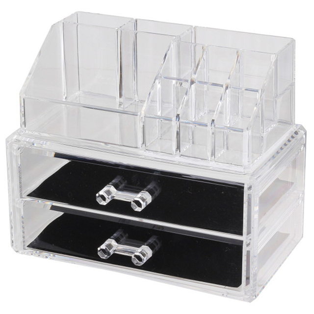 Acrylic Cosmetic Makeup Storage Organizer Drawer Makeup Case Storage