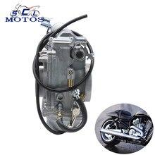 Sclmotos-mikuni hsr42 carburador da motocicleta fácil kit 42mm TM42-6 para harley evo dyna largo glide fxdwg fxdx xlh883 corrida
