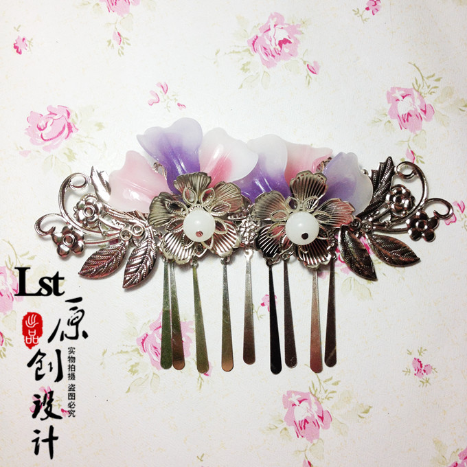 Multidesign Metal Piece or Jade Piece Handmade Front Hair Comb  Vintage Chinese Costume Hanfu Hair Accessory front rear suspension control a arms 3655 alloy aluminum for traxxas slash 5807 rc hobby remote control car 1 10 colorful