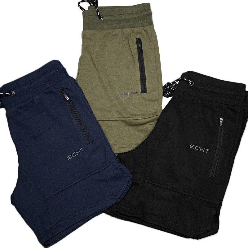 Bermuda Masculina 2020 New Fit Fashion Cotton Men  Summer Shorts Gyms Fitness Pocket Zipper Garnish Hawaii Short