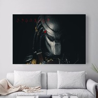 Predator Movie Figure Artwork Canvas Art Print Painting Poster Wall Pictures For New Year Gifts Decor