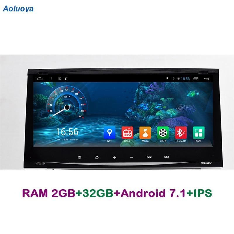 2 Aoluoya IPS RAM gb Android 7.1 Jogador DO CARRO DVD Para Ford Focus Mondeo Fiesta Transit Galáxia C-max -S max Rádio Kuga Navegação GPS