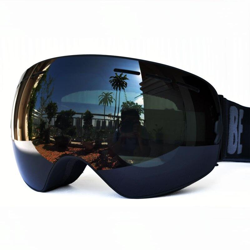 GOG-3100 Double Layers UV400 Anti-fog Polarized Ski Goggles For Men Women Big Ski Mask Glasses For Skiing Helmet Snow Snowboard