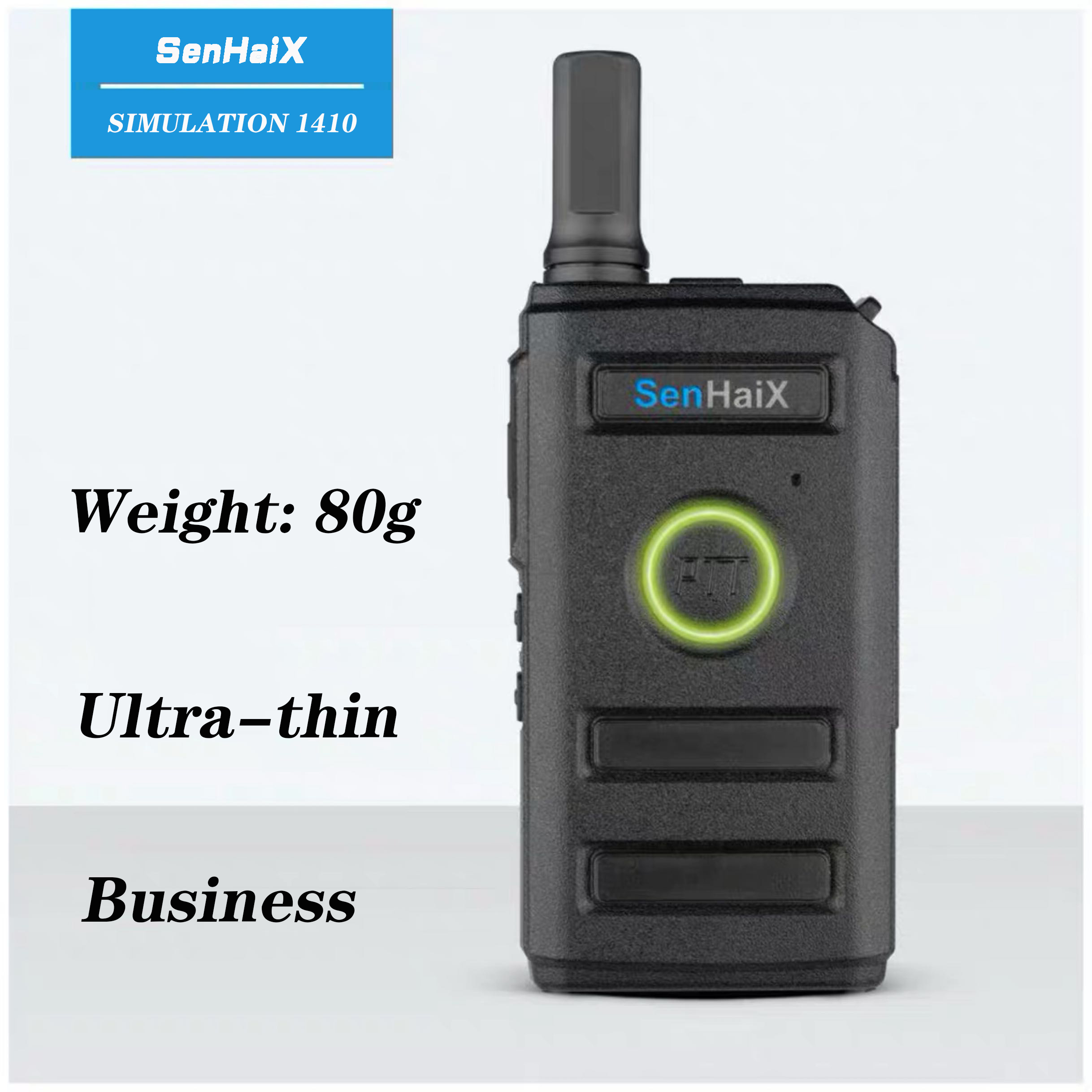 SenHaiX 1410 Walkie Talkie 5W UHF 400-470MHz CTCSS DCS  Ham 2-Way Radio Earpiece