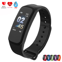 100% Original C1Plus Smart Bracelet Blood Pressure Oxygen Watches Heart Rate Monitor Color Screen Band for Android IOS