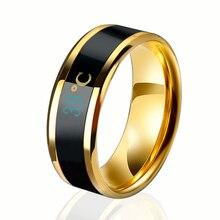 Ювелирные изделия, титановая сталь, умное кольцо, круглое, много размеров, стильное интеллектуальное кольцо для пары, Температурное чувство, изменение цвета, изысканный