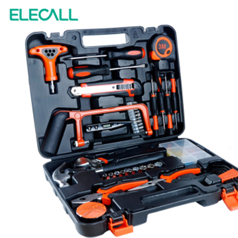 цены 82 PCS ET-DZ82 Professional Household-hardware Combination Tool Box Tools Kit Packed Square