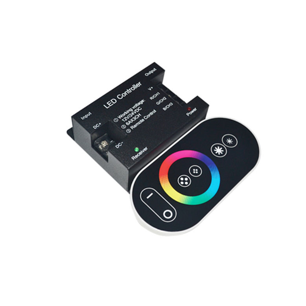 12-24V 18A RF Remote Wireless Touch Pad Panel LED Controller for 5050 RGB Light12-24V 18A RF Remote Wireless Touch Pad Panel LED Controller for 5050 RGB Light
