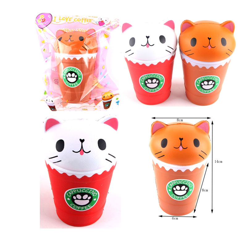 Jumbo Milk Coffee Cup Squishy Slow Rising Cute Strawberry