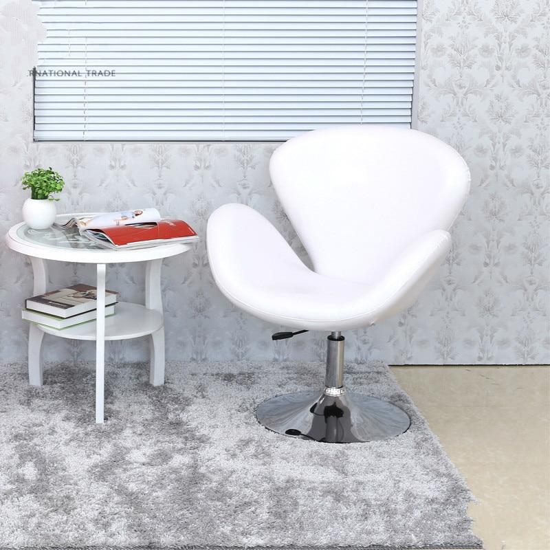 High Quality PU Material Short Swivel Lifting Chair Ergonomic Bar Stool Office/Waiting Room/Reception/Computer Chair cadeira