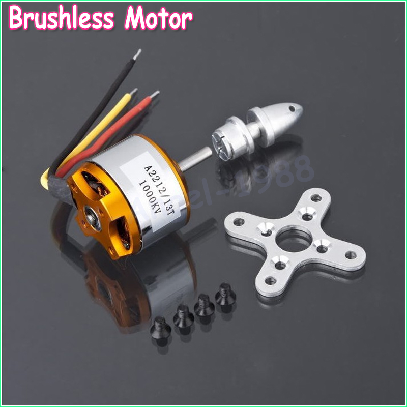 1pcs A2212 Brushless Motor 930KV 1000KV 1400KV 2200KV 2700KV For RC Aircraft Plane Multi-copter Brushless Outrunner Motor 4set lot universal rc quadcopter part kit 1045 propeller 1pair hp 30a brushless esc a2212 1000kv outrunner brushless motor