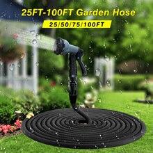 2017 высокое качество 25FT-100FT садового шланга с возможностью расширения магия гибкий шланг для воды Пластик шланги, трубы с Краскопульт для полива