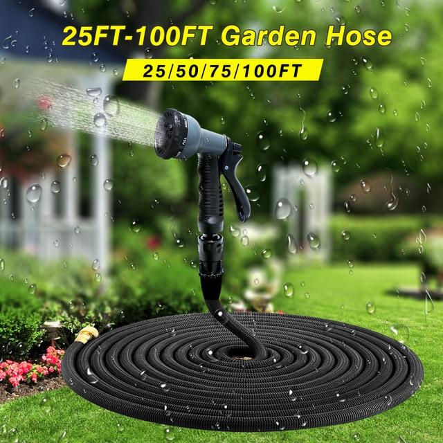 100ft garden hose. High Quality 25FT-100FT Garden Hose Expandable Magic Flexible Water Plastic Hoses Pipe 100ft D