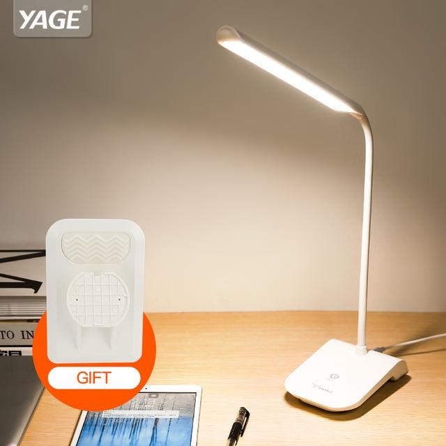YAGE книга Свет ночной лампы для чтения свет usb 22 светодиодные настольные клип светодиодные фонари сенсорный выключатель лампы с зажимом Съемный лампа изгиба лампы